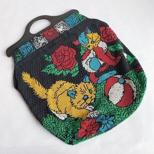 Vintage beaded kitty bag